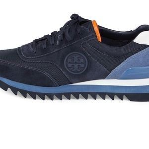 298cda0e9 Tory Burch Shoes - Tory Burch Sawtooth Logo Trainer Sneakers SZ 8.5